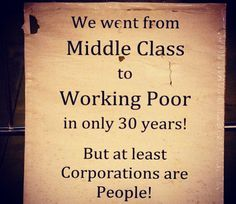 Class warfare. Stagnation of wages, rise in costs, cutbacks in American jobs...all started in the 1970s. This situation didn't happen overnight, and it sure as hell didn't happen by accident.