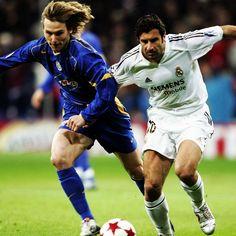 Pavel Nedvěd face à Luis Figo / Juventus vs Real