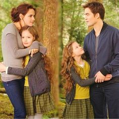 Cullen family she is always happier with Edward for some reason
