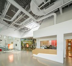 Harvard Educational Portal   Allston, Massachusetts project size: 11,000  sf  LEED gold Certified Materials: polished concrete . faceted plaster . glass . daylight