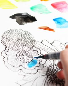 I always use a water brush when I am painting on the go.alisaburke: tutorials