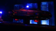 Corgi Toys Buick (Century) Regal Police Car No. 416 Converted Into A Futuristic Sci-Fi Hover Car : Diorama A Hover Police Car City Scene - 18 Of 98   by Kelvin64