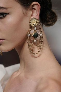 baroque style earrings, love these!!!