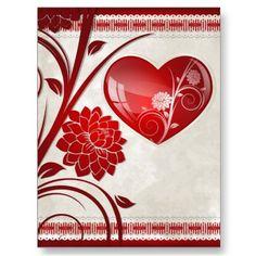 Flower Heart Postcards  $0.88