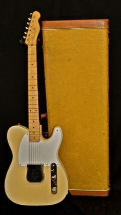 Vintage 1956 Trans Blonde Fender Esquire Guitar With Original Hard Tweed Case #Fender