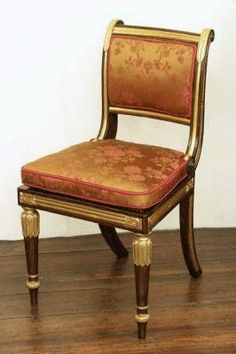 Set Of Eight English Regency Period Dining Chairs.