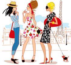 Kid Character, Character Design, Parisienne Style, Sketches Of People, I Love Paris, Woman Illustration, Tour Eiffel, Art Studies, Art Girl