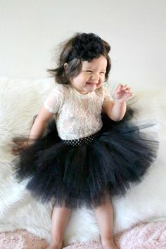 Make sure she looks sweet and playful for a family photo shoot in this black tutu set from Beautiful Bows Boutique. Customized just for her, it features a fl. Baby Dress Clothes, Baby Tutu Dresses, Flower Girl Dresses, Long Dresses, Tulle Skirt Kids, Black Tutu Skirt, Tutu Outfits, Girl Outfits, Little Girl Tutu