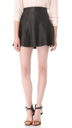 A.L.C. | Reese Leather Skirt in black