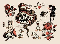 Sailor Jerry Tattoo Flash who would have know my dad has an old sailor Jerry's tattoo! Instantly makes it cooler!