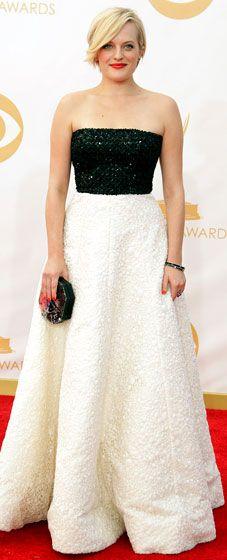 Elisabeth Moss: 2013 Emmy Awards in Andrew Gn dress,