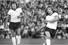 Derby County's brilliant defensive partnership of Roy McFarland and Colin Todd