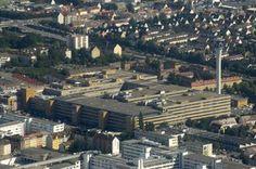 Pförtnerhaus der Firma Quelle I Architekt: Ernst Neufert I Baujahr: 1960 I Adresse: Wandererstraße 80, Nürnberg