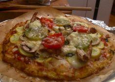 Cauliflower crust pizza. Looks yummy. Gluten free.