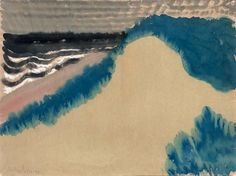 "peinture US : Milton Avery, ""Dark Sea Dunes"", paysage, mer Mark Rothko, Henri Matisse, Illustrations, Illustration Art, Landscape Art, Landscape Paintings, Gouache, Portraits, Sculpture"