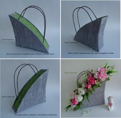 DIY Beautiful Handbag Style Candy Flower Basket from Cereal Box Flower Crafts, Diy Flowers, Flower Decorations, Flower Art, Paper Flowers, Deco Floral, Arte Floral, Beautiful Flower Arrangements, Floral Arrangements