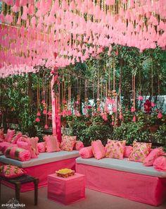 Beautiful wedding decor by Rani Pink