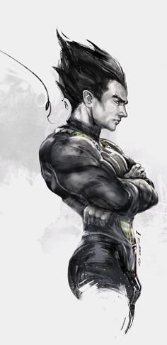 ArtStation - vegeta, iVAN TAO. This is quite possibly my most favorite piece of realism art of Vegeta I've ever seen. Wowza. Absolutely stunning.