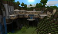 Perfect example of killing two birds with one stone! Mine ores within the cliff side and build your house!