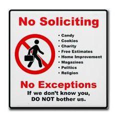 No Soliciting Tile #2u003e No Solicitors Signs