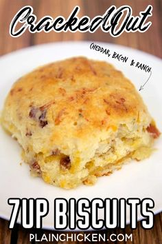 Cracked Out Biscuits Bisquick sour cream Ranch cheddar bacon and the best biscuits! I could make a meal out of these things! Great for breakfast lunch or dinner. Super easy to make and even easier to eat. Brunch Recipes, Bread Recipes, Breakfast Recipes, Cooking Recipes, Breakfast Biscuits, Breakfast Ideas, 7 Up Biscuits Recipe, Homemade Biscuits, Bisquick Recipes Biscuits