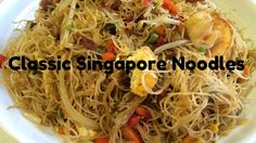 Classic Singapore Noodles in a flash! M mmmmmmmmmm! This is an excellent dish for a novice cook - it is very easy to do! It is also very economical and V. Chinese Bbq Pork, Rice Vermicelli, Singapore Food, Asian Recipes, Ethnic Recipes, Asian Noodles, Eastern Cuisine, Cooking Time, Appetizers