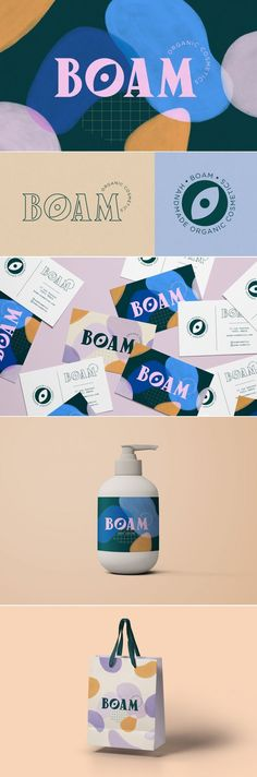 Boam – Fivestar Branding Agency A bold, vibrant and colorful brand with a trendy, hipster design, stationery design and packaging. Corporate Design, Brand Identity Design, Graphic Design Branding, Stationery Design, Packaging Design, Brand Design, Brochure Design, Design Design, Hipster Design