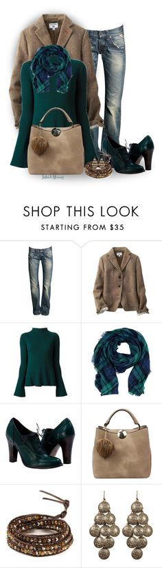 """""""Emily on Fridays"""" by jayhawkmommy ❤ liked on Polyvore featuring Replay, Uniqlo, Alexander McQueen, Handbag Republic, Chan Luu and Towne & Reese"""