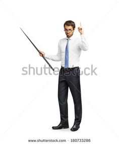 Man with pointer