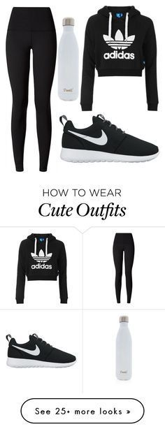 """""""cute workout outfit!!"""" by kellyelizabeth12 on Polyvore featuring Topshop, lululemon, NIKE and S'well"""