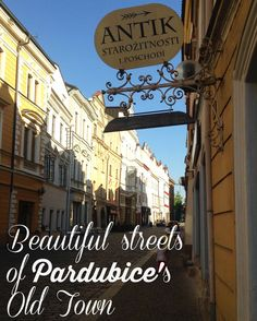 Walk the streets of Pardubice's old town with Tiny Expats - so many wonderful details, beautiful buildings, vibrant colours! Add Czech Republic to your bucket list! Vibrant Colors, Colours, Old Street, Beautiful Buildings, Czech Republic, Old Town, Traveling By Yourself, Vacations, Bucket
