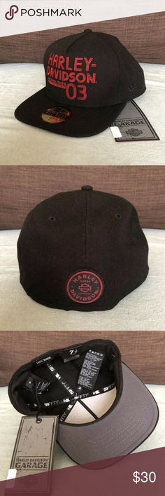 14c704bee97c7 Harley Davidson New Era Hat Men s Size 7 1 4 NWT For sale is a