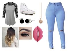 """""""Scars"""" by titi-reina on Polyvore featuring moda, LE3NO, Converse, Thomas Sabo, Bling Jewelry y Lime Crime"""