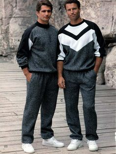 Men's Sportswear from a 1991 catalog #1990s #fashion #vintage