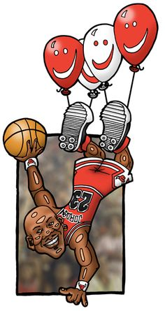 """Michael Jordan"" - really amazing illustrations.  © Petri Rantanen"
