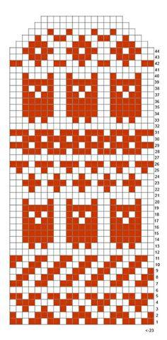 owl_lapanen (345x700, 177Kb) Mittens Pattern, Knit Mittens, Knitting Socks, Hand Knitting, Knitting Charts, Knitting Patterns, Crochet Patterns, Fair Isle Chart, Tapestry Crochet