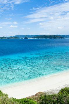 Nishibama Beach, Aka Island (Kerama Island), Zamami-son, Okinawa Prefecture_ Japan. Aka Island belongs to the Kerama Island group which is known for some of the world's clearest waters with 50-60m visibility.