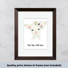 Mary had a little lamb nursery rhyme print. Nursery Prints, Nursery Wall Art, Nursery Decor, Bedroom Decor, Lamb Nursery, Girl Nursery, Gifts For New Parents, New Baby Gifts, Make Your Own Sign