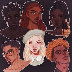 Black Love Art, Black Girl Art, Art Drawings Sketches, Cute Drawings, Pretty Art, Cute Art, Arte Indie, Black Cartoon, Girl Cartoon