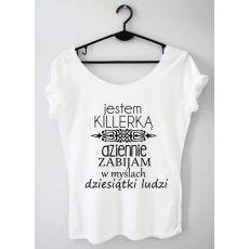Time For Fashion Killerka / t-shirt biały Diy Shirt, Sherlock, Sentences, Funny Quotes, Sayings, Tank Tops, Shirts, Stuff To Buy, Outfits