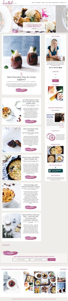 Heartbeet Kitchen Blog Design,  Food Blog Design