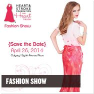 Heart Truth fundraiser and fashion show in Downtown Calgary.