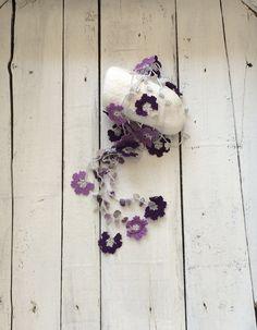 Purple Crochet Lariat Necklace Oya Purple Lavender by ReddApple
