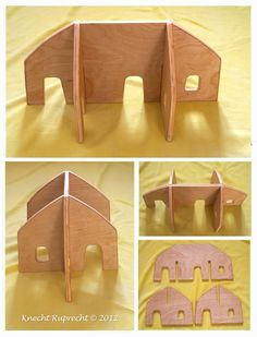 Knecht Ruprecht Waldorfdolls: Portable Imaginative Play Waldorf Dollhouses