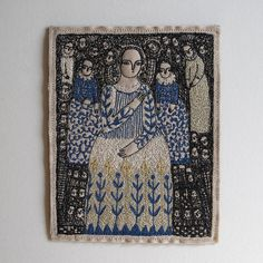 forget-me-not   larger portrait in stitch - embroidery   By: cathy cullis   Flickr - Photo Sharing!