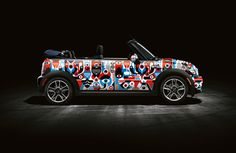 25 designers and illustrators around the world were selected to customize Mini Cooper Car Wraps. So Mini Cooper owners will be able to choose and change the way their cars look like. Cooper Car, Mini Cooper S, Mini Driver, Weird Cars, E Type, Mustang Cars, Car Wrap, Mini Me, Cars Motorcycles