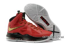 1d2ce0c28652 Nike Lebron X Heat Away Xdr Red Gold TopDeals