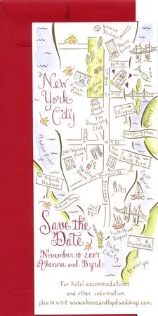 Map save the date? - Couture Maps by Stephannie Barba