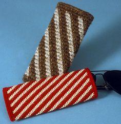 Tapestry Crochet Eyeglass Cases by tapestrycrochet, via Flickr