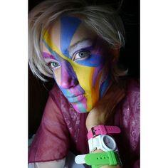 Rainbow Face by Bre Lembitz